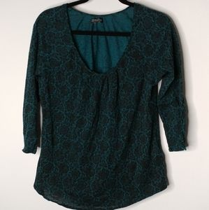 Lucky Brand 3/4 sleeve top Size L